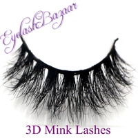 2014 New 1 Pair 3D Mink Eyelash 100 Real Mink Fur Handmade Crossing Lashes D008