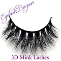 New 1 pair MYKONOS 3D mink eyelash wholesale 100% real mink fur Handmade crossing lashes D008 individual strip thick lash
