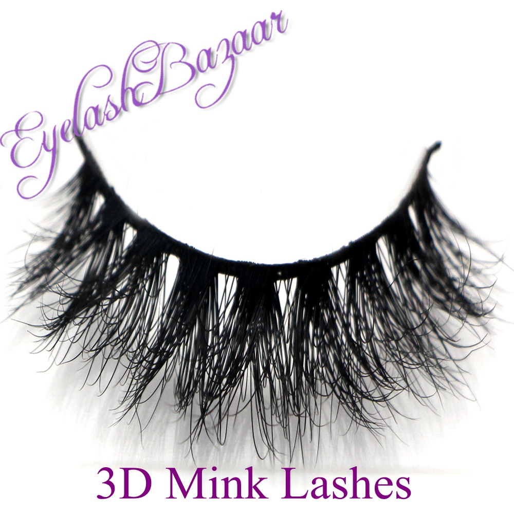 New 1 pair MYKONOS 3D mink eyelash wholesale 100% real mink fur Handmade crossing lashes D008 individual strip thick lash