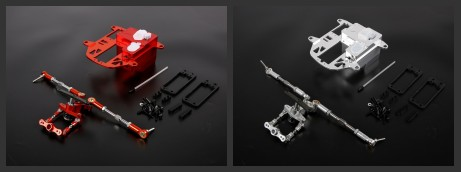 Steering System With CNC metal Battery Case Kit Upgrade For 1/5 Hpi rovan km Baja 5B 5T 5SC parts