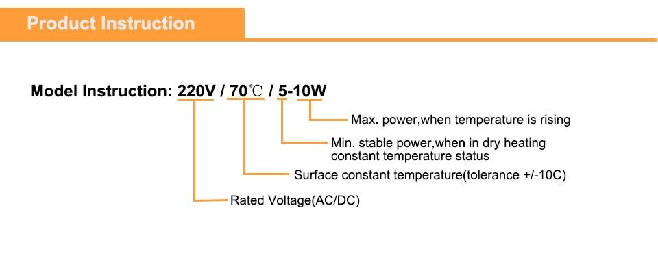 2 шт 25x20x5 мм PTC Электрический нагревательный элемент 60/80/140/230 градусов Цельсия 12 термостатический нагревательный Пластина алюминиевая