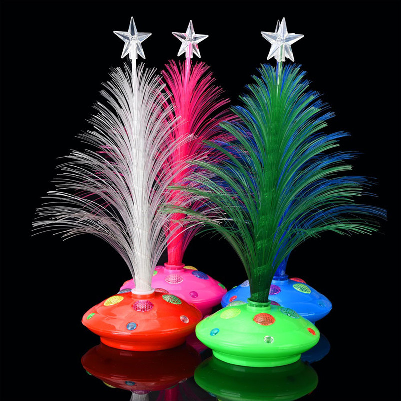 New LED Colorful Changing Mini Christmas Tree Decoration Table Party Charm Desk Decorations Gift for Home decor #4o26#f (8)