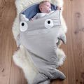 Envelope Shark Bites Baby Sleeping Bags  For Winter Strollers Bed Swaddle Blanket Wrap Cute Cartoon Newborns Bedding Sleep sacks