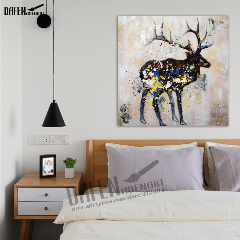 100% Hand Paint Sika deer Oil Portray Fashionable Animal Sq. Wall Artwork Acrylic Oil Canvas Residence Ornament deer oil portray, oil canvas, portray fashionable,Low-cost deer oil portray,Excessive High quality...