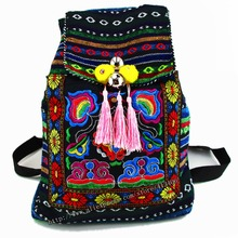 Tribal Vintage Hmong Thai Indienne Ethnique Boho sac à dos Boho hippie ethnique sac, sac à dos sac L taille SYS-170B