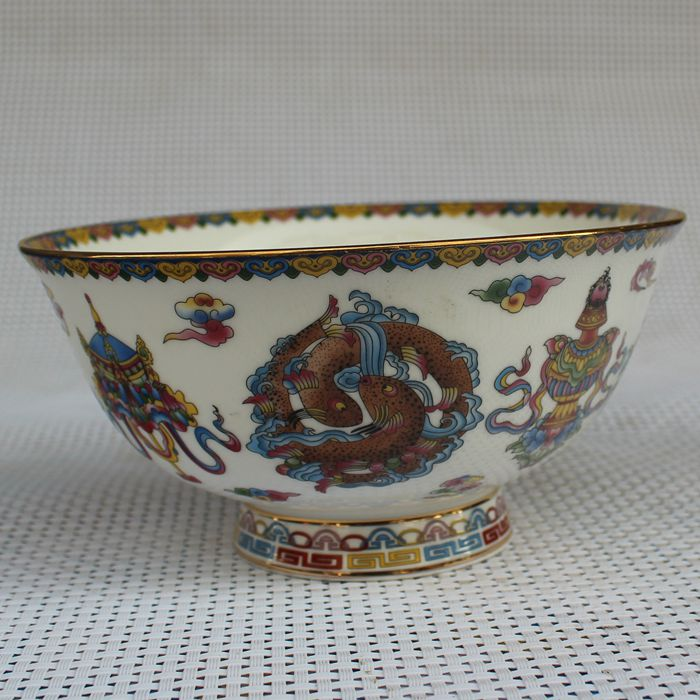 Китайская старая фарфоровая Пастельная глазурь рыбья зерно карта китайская чашка для еды