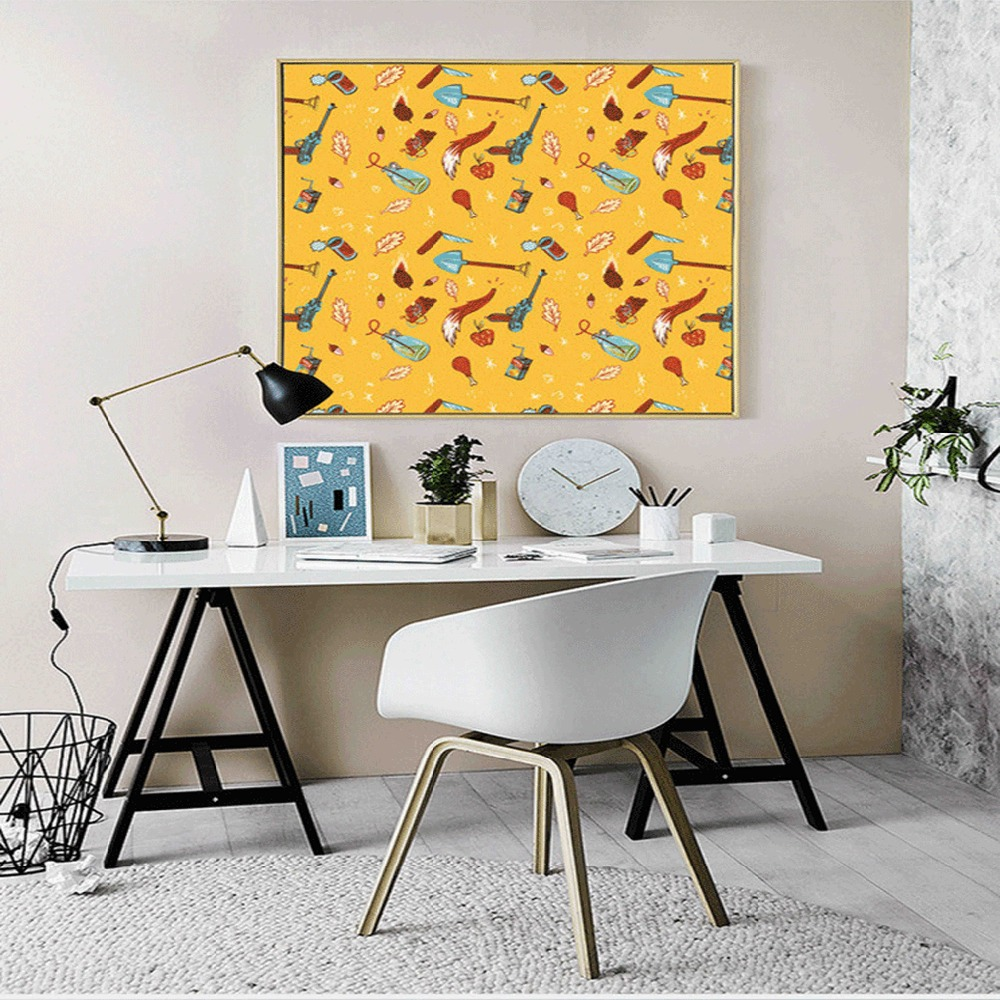 Nordic Abstract Musical Instruments Decorative Painting Modern ...