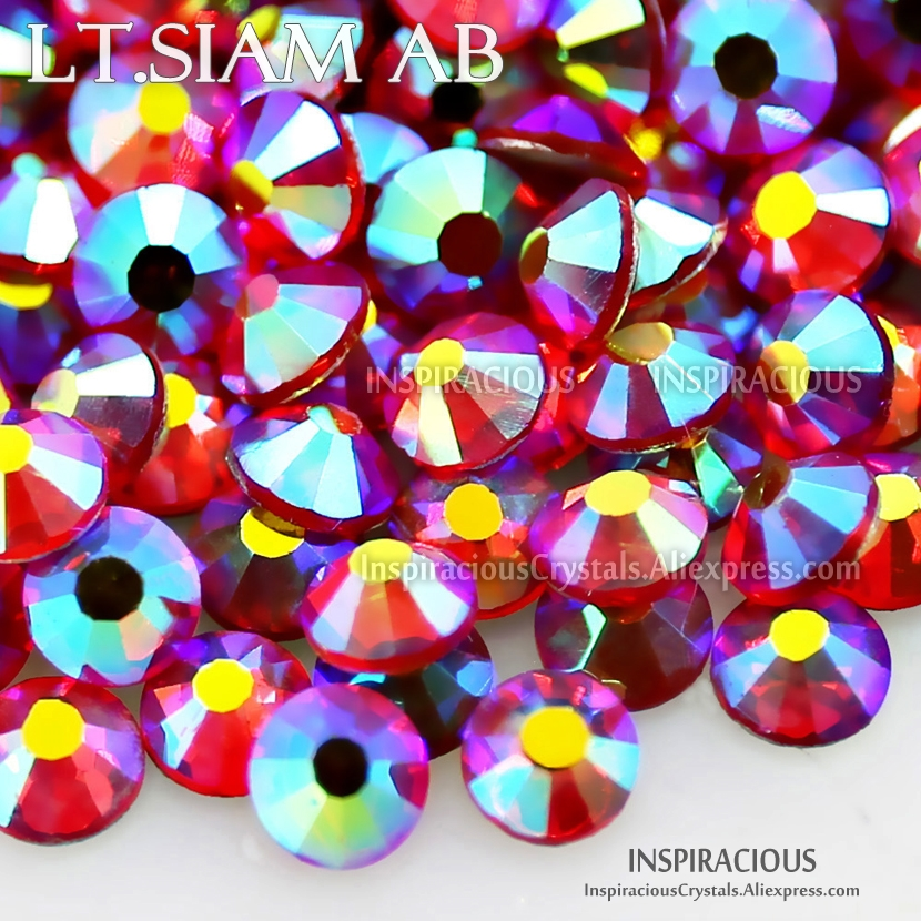 Siam AB All sizes SS3-SS20 SS16 SS30 Rhinestone nails accessoires Non HotFix crystal strass glitters DIY nail art decor manicure