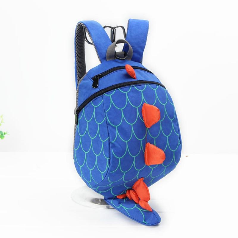 New 3D Cartoon Dinosaur Bag Baby Toddler Anti Lost Leash Harness Strap Walker Kids Lunch Box Kindergarten Schoolbag Backpack