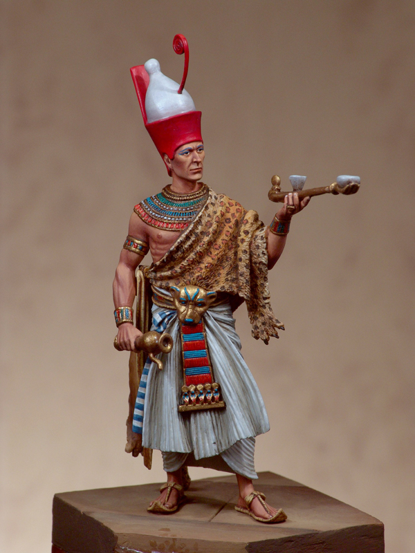 Scale Models 1/32 54mm Menmaatre Seti I. Egyptian Pharaoh 54mm figure Historical WWII Resin Model Free Shipping