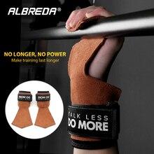 ALBREDA 1 пара фитнес-Стабилизатор ладони противоскользящая Прочная рукоятка для рук протектор обертывание перчатки тренажерный зал Лифт тренировочная спортивная одежда
