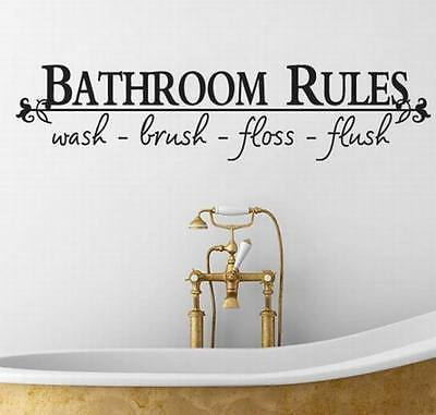Bathroom Rules Saying Quotes Wall Decals New 2016 Vinyl Art Words Wall  Stickers Home Decorations Drop. Compare Prices on Bathroom Wall Words  Online Shopping Buy Low