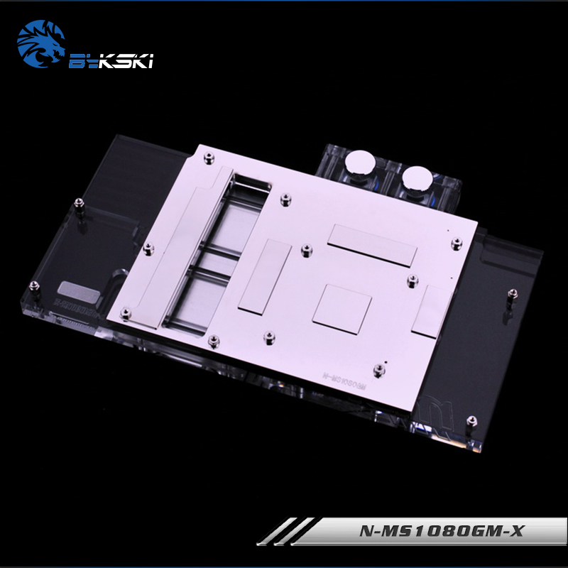 Image 2 - Bykski water Cooling block fit MSI Geforce GTX 1080 Gaming X 8G/ARMOR 8G,1070TI/1070/1060 Gaming,GPU Block,N MS1080GM X-in Fans & Cooling from Computer & Office