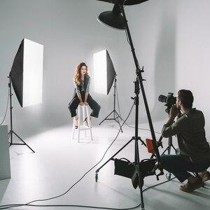 Image 5 - ZUOCHEN fotoğraf stüdyosu Softbox beyaz siyah yeşil ekran zemin işık standı şemsiye aydınlatma kiti