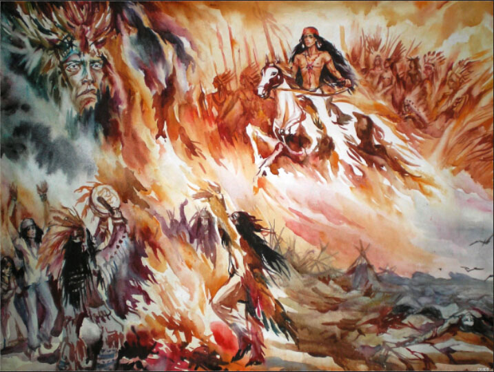 ... Native American Wall Murals Awesome Design Part 27