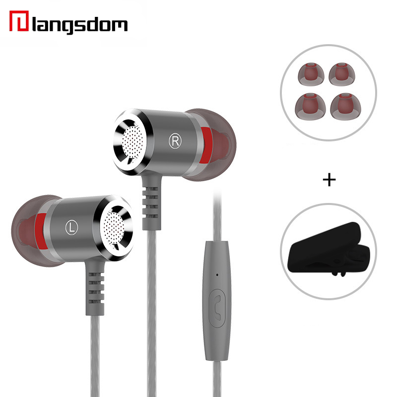 Langsdom M400 Earphone Super Bass In-ear Earbuds Stereo Hifi Universal Wired Earphones With Mic For iPhone Huawei Honor V8