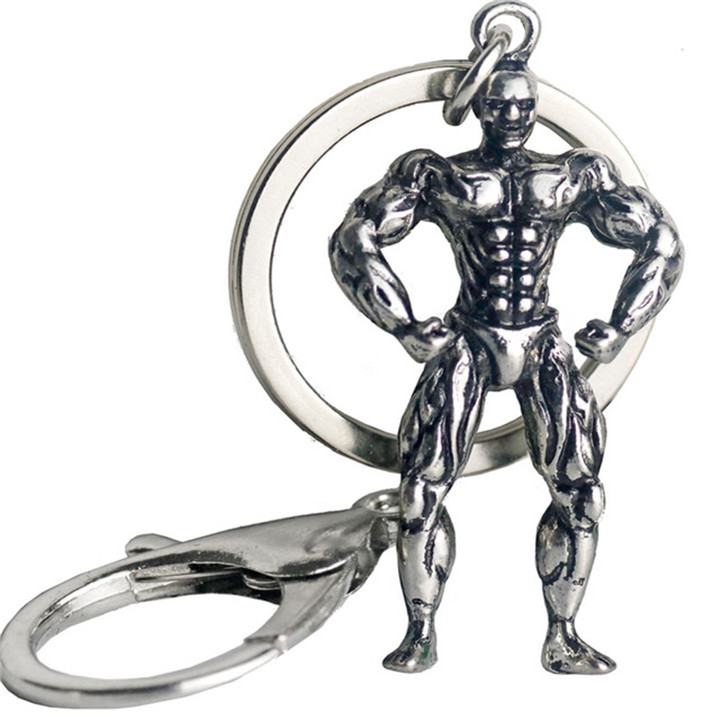 Muscle Keychains Fitness Sports Dumbbell Bodybuilding Workout Key Chain For  Car Wallet Men Hip Hop Jewelry Gym Mothers Gift 2018