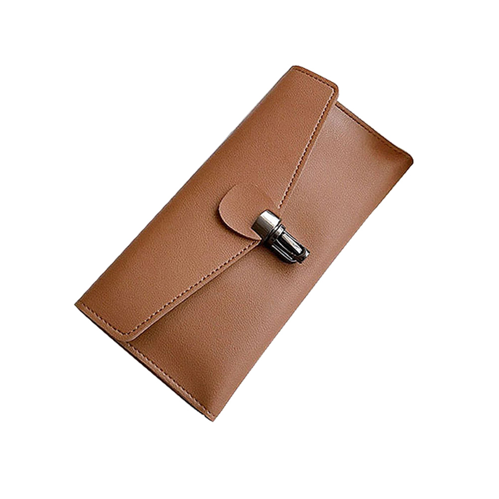 Fashion Korean Women Long Wallet Leather Solid Color Bags Hasp Card Holder Coin Purse Ladies Sweet Girls Clutch Bag casual weaving design card holder handbag hasp wallet for women