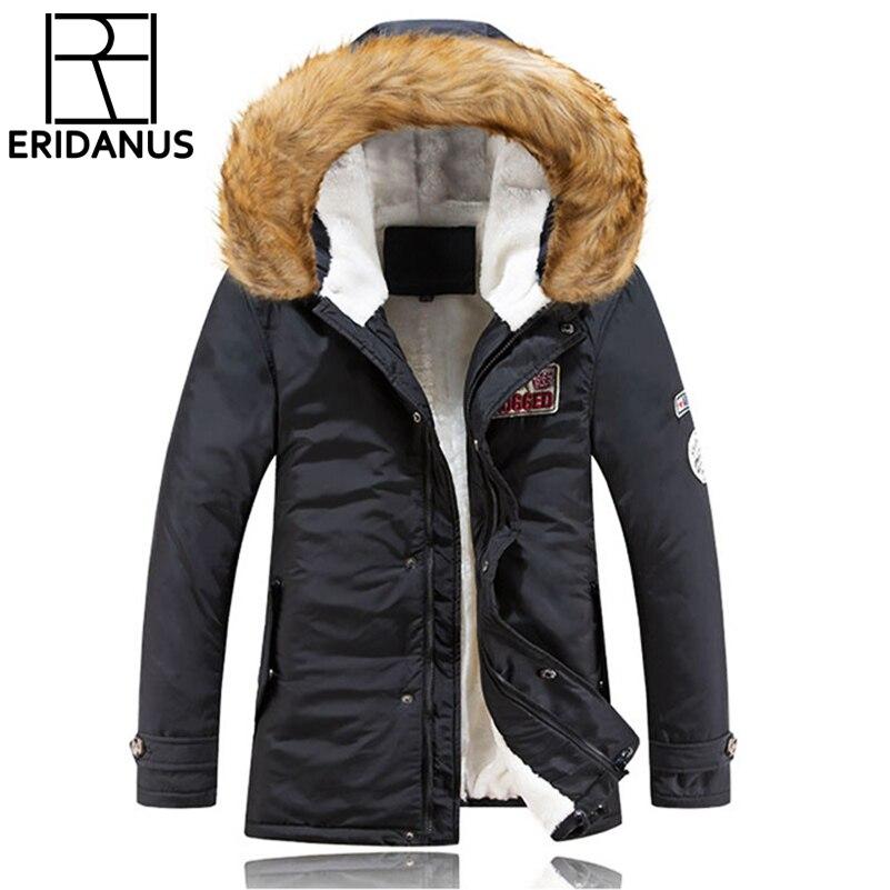 2017 Neue Winter Parka Lange Männer Freizeitjacke Kragen Winter Wadded Cotton-padded Jacken Oberbekleidung Mit Kapuze Langen Mantel Schlank Große X602