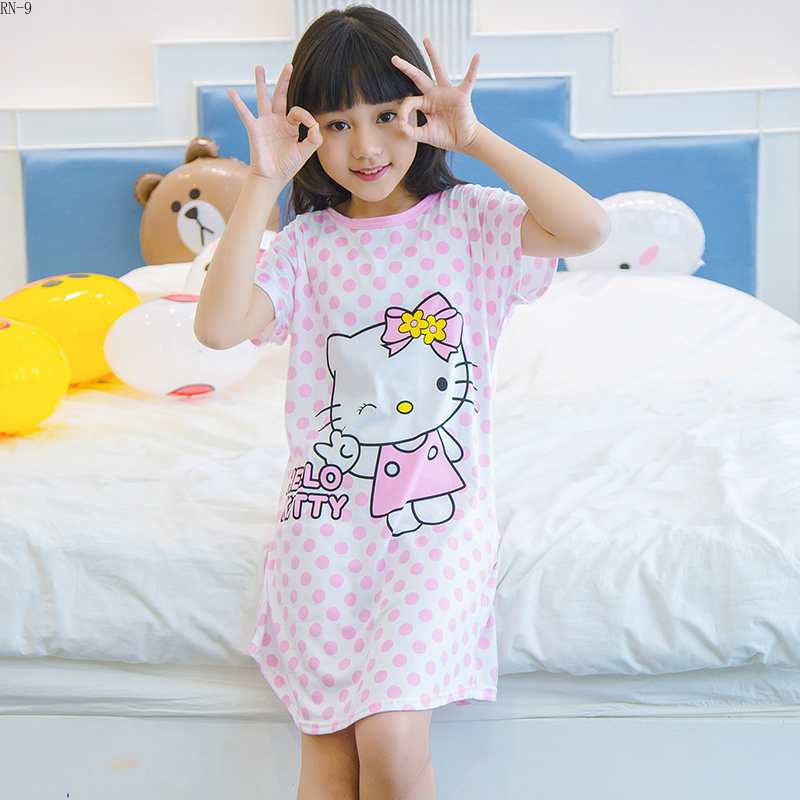 Girls Fashion Nightwear 2019 Summer Kids Sleepwear Short Sleeve Cartoon Girls Nightgowns Children Nightdress Kids Baby LoungeGirls Fashion Nightwear 2019 Summer Kids Sleepwear Short Sleeve Cartoon Girls Nightgowns Children Nightdress Kids Baby Lounge