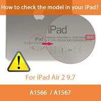 protective pu leather Tri-folded TPU Tablets Case For iPad Air 2 9.7 Soft Protective Covers PU Leather Tablet Smart Case For iPad Air Case iPad Air9.7 (2)