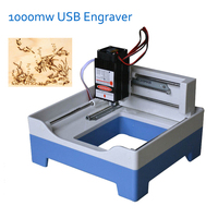 1pc 1000mw USB Engraver Mini Laser Engraving Machine DIY Laser Engraver For Wood Bamboo Plastic Material