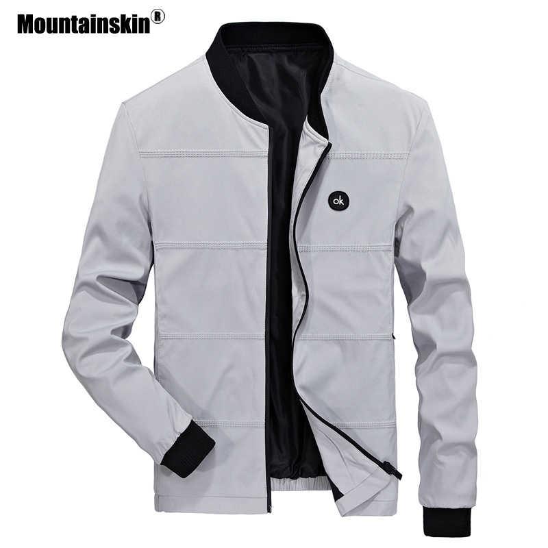 Mountainskin chaquetas de primavera para hombre piloto chaqueta Bomber masculina moda béisbol abrigos de hip hop Slim Fit abrigo marca ropa SA679