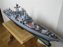 Paper Model DIY 82cm Harlem Russia Dreadnought Missile Destroyer Admiral Liefuqinke Pepercraft Ship Funs Gifts Pepercraft Ship