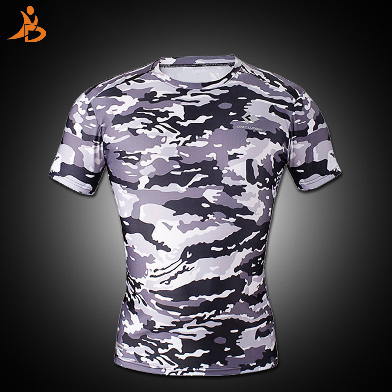 Yd 2017 Brand New Compression Short Sleeve MenS Sportswear Gym Sport Suit Rugby Jersey Running Shirt Camo Costume MenS T-Shirt