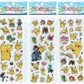 Comercio al por mayor 10 unids/lote Pegatinas Juguetes De Espuma Pegatina 3D Pikachu Lindo Pegatinas de Dibujos Animados Niños Niños niños Bebés y Niñas Regalo