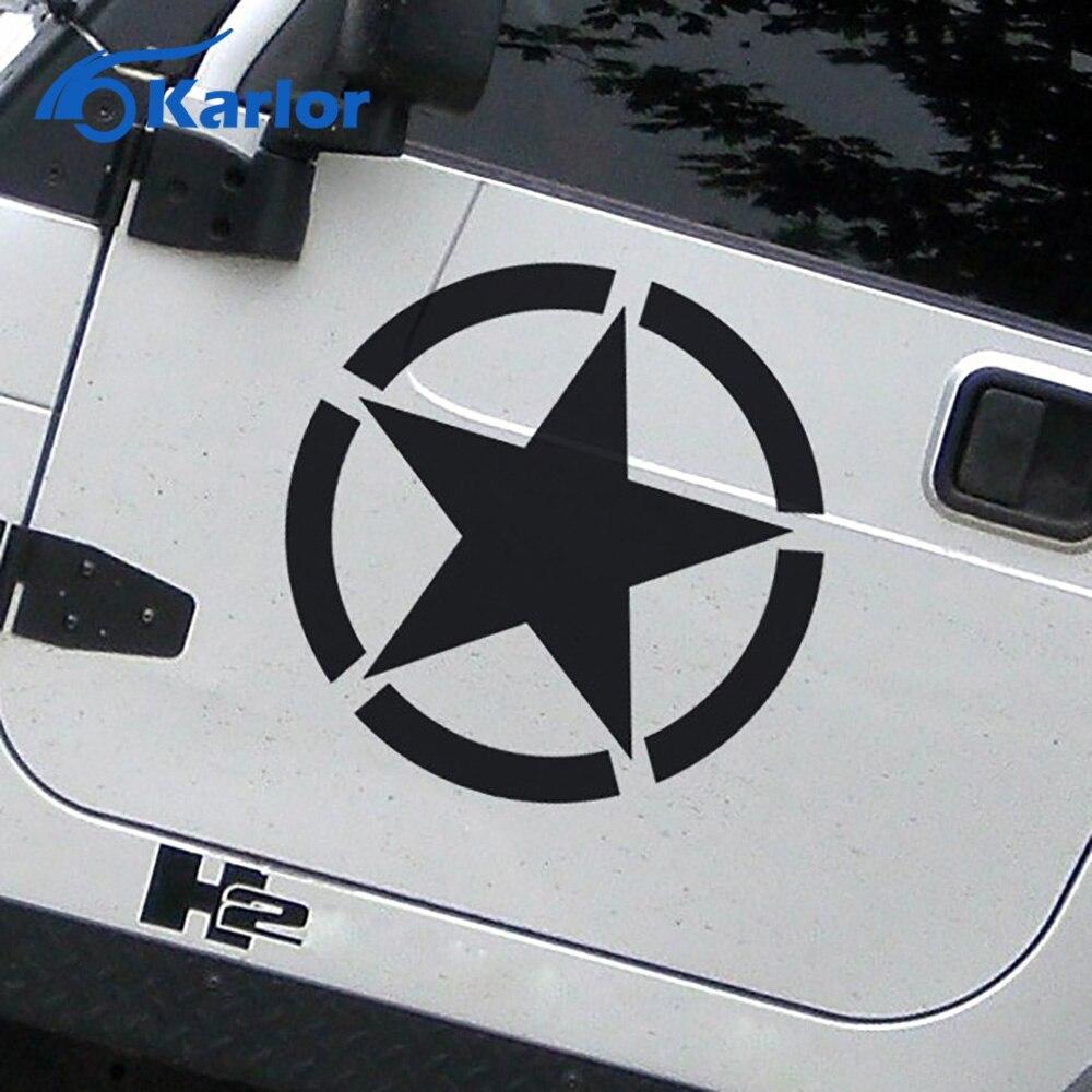 Car sticker design online malaysia - Wild Us Army Willys Star Oscar Mike Military Car Stickers Auto Decals Door Suv Van Truck