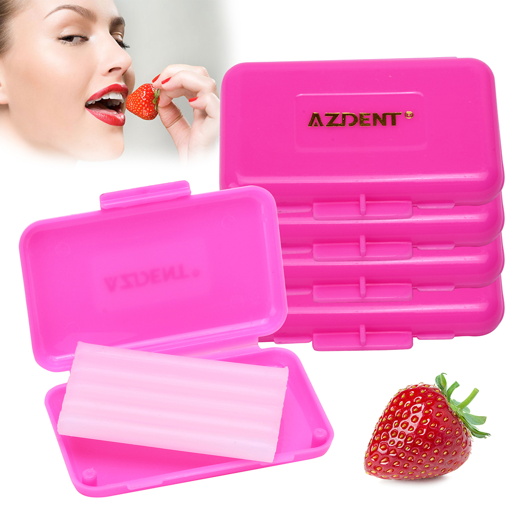 10 Boxes Dental Orthodontics Wax Oral Hygiene Tool Strawberry Scent For Braces Gum Irritation Teeth Whitening Kit