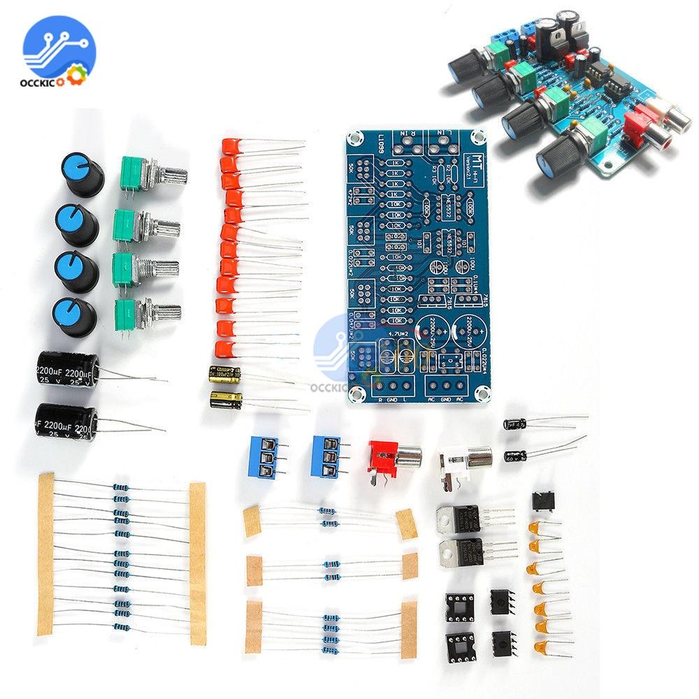 NE5532 Preamp Amplifier Board DIY Kits Volume Control Board Treble Midrange Bass DIY Dual AC 15 V Modulo Amplificador