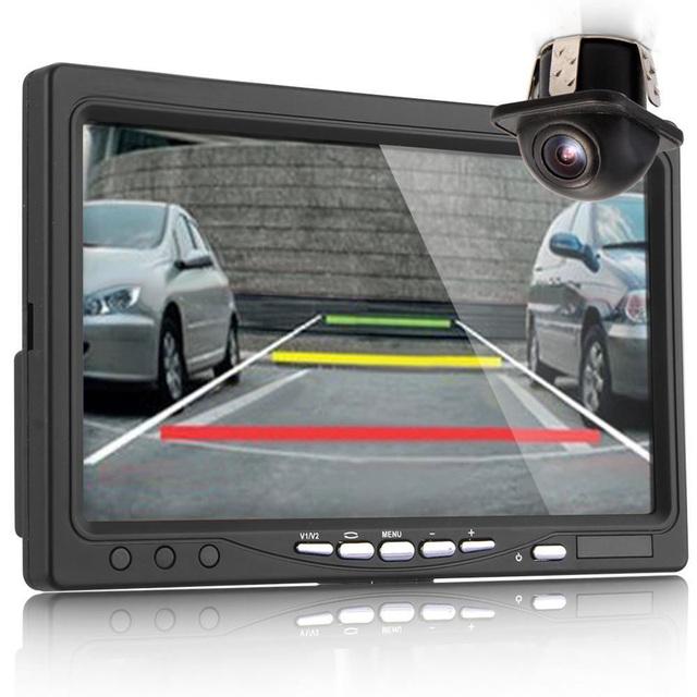Venta caliente LCD Digital de Pantalla a Color de 7 pulgadas Monitor Del Coche + Visión Nocturna Cámara de Visión Trasera