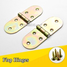 Free Shipping 50PCS/LOT Metal Table Flap Hinges Hidden Folding Table/Dining Table/Round Flip Furniture Hardware