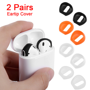 Image 1 - Nouvelle mode couleur douce Ultra mince écouteurs conseils anti dérapant écouteurs Silicone écouteur housse pour Apple AirPods Earpods