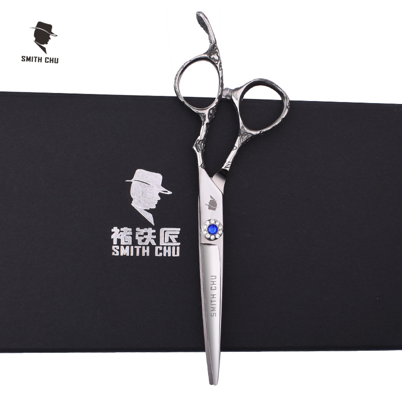 Smith Chu XH95 Plum Blossom Haircut Thinning Scissors Blue Diamond Stainless Professional Salon Barbers Cutting Scissors Sets hair scissors set professional salon products barber cutting thinning scissor special stainless steel 60hrc very sharp smith chu