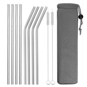 Party-Bar-Accessory Drinking-Straws Bent Metal Sturdy Straight Reusable 304-Stainless-Steel
