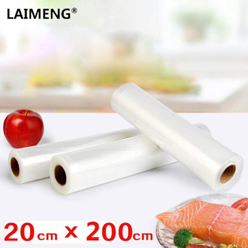 LAIMENG Best Quality Different Sizes Roll Packages Kitchen Storage Bags For Vacuum Packing Machine Sealing Food Fresh Saver kitcox70427sfc023803 value kit naturehouse fresh nap moist towelettes sfc023803 and glad forceflex tall kitchen drawstring bags cox70427