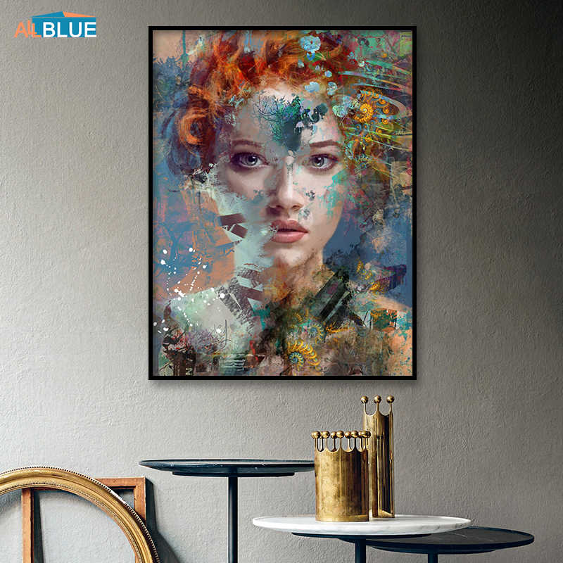 Canvas Painting Abstract Portrait Canvas Art Woman Print Poster Nordic Wall Art Picture For Bedroom Portrait Decorative Picture