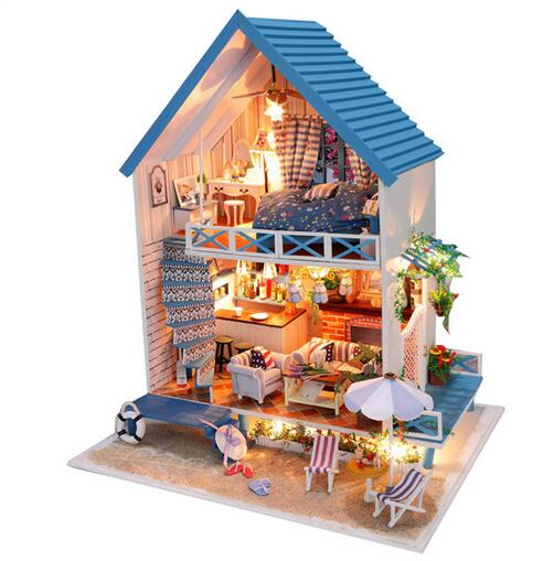Miniature Aegean Sea Beach Villa DIY Doll House Valentine's Day gift beach house paris