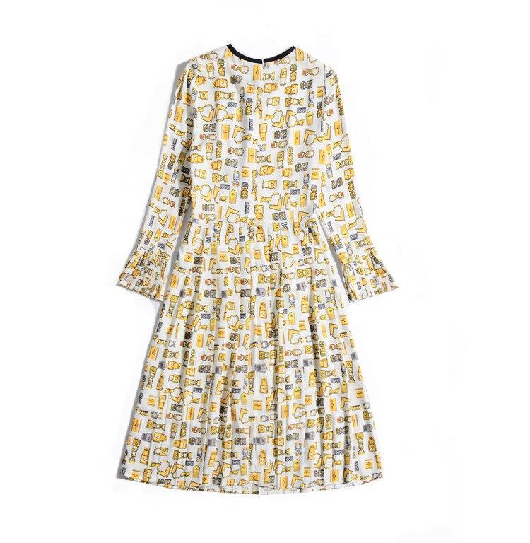 Plissées Robes Summe Printemps ul184 Mince Nouvelle 2019 Arc 64HPnwqnY