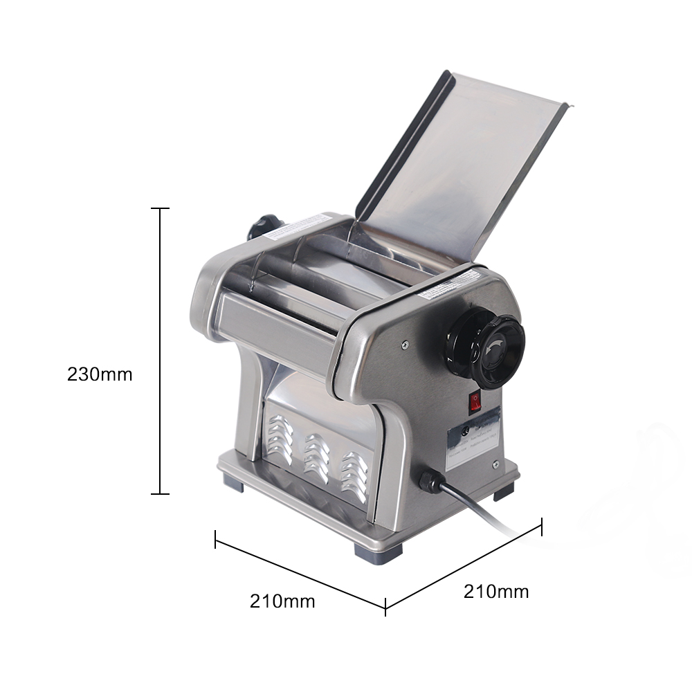 ITOP Commercial Stainless Steel Noodle Machine Pasta Maker, 0.5-3mm Thickness Heavy Duty Noodle Maker, Pasta Cutter Machine