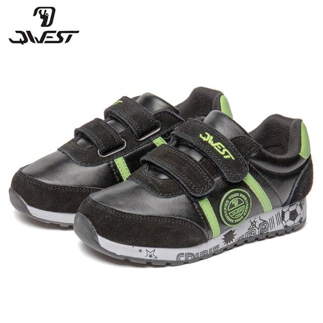 Кроссовки QWEST для мальчиков 91K-ES-1366, вид застежки – липучка, кожаная стелька, дышащий материал,  для спорта и отдыха, размер 27-33.