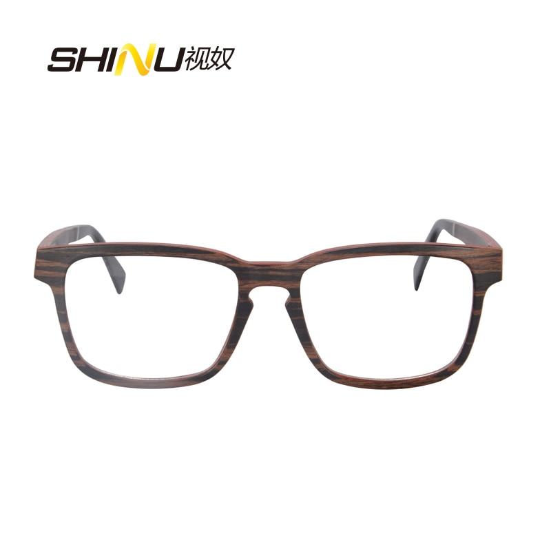 priroda drvo optički okvir naočale s receptom naočale - Pribor za odjeću - Foto 3