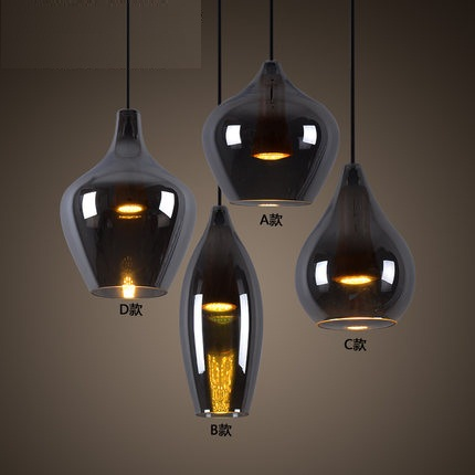 Loft Style Creative Glass Droplight Modern LED Pendant Light Fixtures For Dining Room Bar Hanging Lamp Lamparas Colgantes america country led pendant light fixtures in style loft industrial lamp for bar balcony handlampen lamparas colgantes