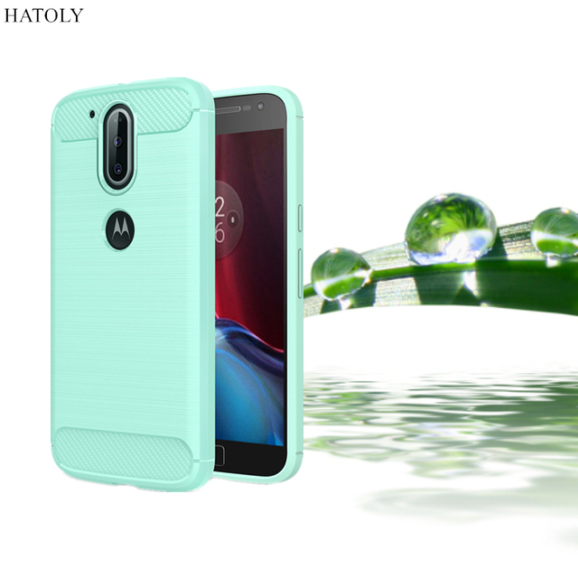 HATOLY For Capa Motorola Moto G4 Plus Case Anti-knock Soft TPU Brushed Rugger Silicon Hybrid Phone Case For Moto G4 G4 Plus<