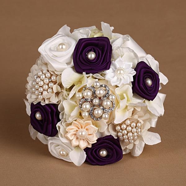 Romantic Bridal Bouquet Beautiful Wedding Accessory Hand Made Wedding Bouquet FW68