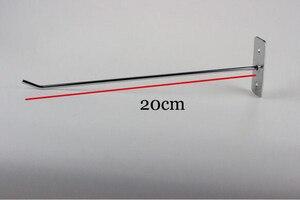 Image 1 - 20 cm J קיר מדף וו סחורה מחזיק קולב מדף אבזר בגד שיער keychain וו מתלה תצוגת אביזרי ריהוט