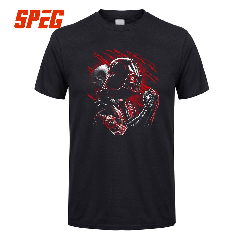 Star Wars Tshirt Wrath Of Darth Vader T-Shirt Men Short Sleeve 100% Cotton Boy Tee Male Big Size Black T Shirt Top Clothes